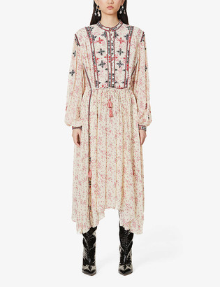 Etoile Isabel Marant Inesia floral-print crepe midi dress