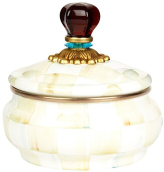 Mackenzie Childs Mackenzie-Childs Parchment Check Enamel Squashed Pot(13Cm)