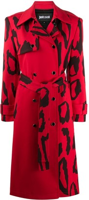 Just Cavalli Patterned Double-Breasted Coat