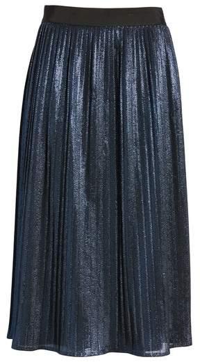 BOSS Women's Miplisa Metallic Pleated Midi Skirt