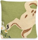 Liora Manné Frontporch Wipe Your Paws Square Throw Pillow in Green