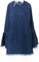 Marques Almeida Marques'almeida - frayed denim dress with bell sleeves - women - Cotton - M