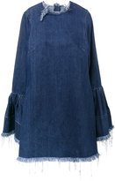 Marques Almeida Marques'almeida - frayed denim dress with bell sleeves - women - Cotton - XS