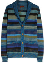 Missoni Wide-Collar Striped Cardigan