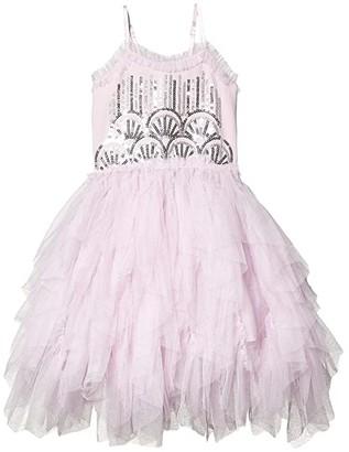 Cotton On Iris Tulle Dress (Little Kids) (Lavender Fog Ruffles/Sequin Deco) Girl's Dress