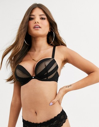 Curvy Kate Super Plunge fuller bust Lace bra in black