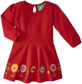Little Green Radicals Flower Dress (Baby) - Red-9-12 Months