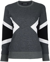 Neil Barrett geometric panel insert sweatshirt