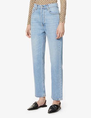 Nanushka Kemia straight-leg mid-rise jeans