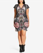 City Chic Printed Tunic Dress