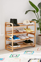Urban Outfitters Stackable Bamboo Shoe Rack