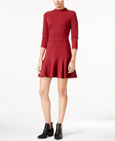 Armani Exchange Mock-Neck Drop-Waist Dress