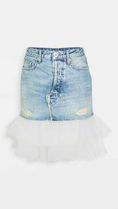 Unravel Project Moonwash Distressed Tulle Skirt