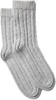 Portolano Women's Cable Socks, Light Heather Gray