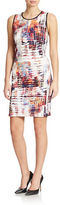Andrew Marc Printed Sheath Dress