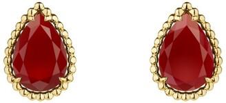 Boucheron Yellow Gold Carnelian Serpent Boheme Earrings