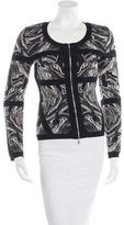 Robert Rodriguez Abstract Patterned Knit Jacket