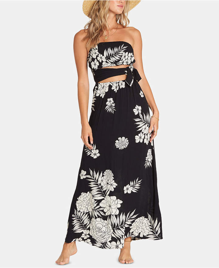 Billabong Juniors' Cutout Floral Print Maxi Dress
