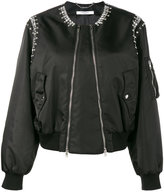 Givenchy rhinestone embellished bomber jacket - women - Polyamide/Viscose/Brass/glass - 36