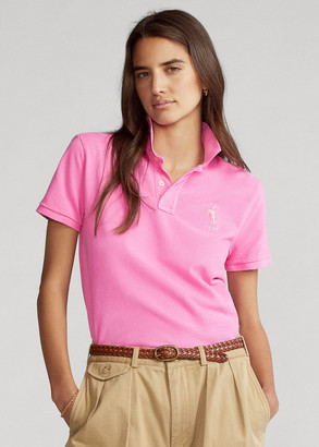 Ralph Lauren Pink Pony Cotton Mesh Polo Shirt