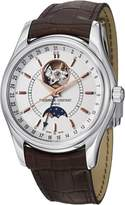 Frederique Constant FC-335V6B6 Men's Classics Moontimer Silver Dial Brown Leather Strap Automatic Watch