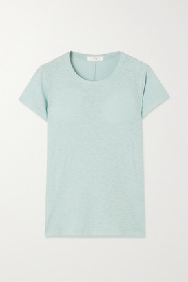 Rag & Bone The Tee Slub Pima Cotton-jersey T-shirt - Blue