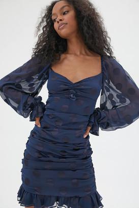 For Love & Lemons Lula Ruched Mini Dress