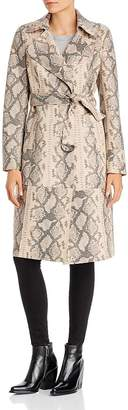 Sunset & Spring Sunset + Spring Snake Print Faux-Leather Trench Coat - 100% Exclusive