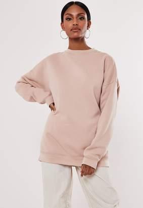 Missguided Rose Extreme Oversized Washed Sweatshirt