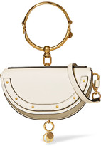 Chloé Nile Mini Textured-leather Shoulder Bag - Cream