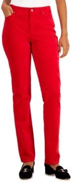 Charter Club Lexington Velveteen Tummy-Control Straight Leg Jeans, Created for Macy's