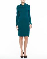 Magaschoni Cashmere Cowl-Neck Dress