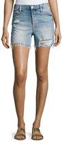 Mother Proper High-Rise Denim Shorts, Indigo