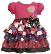 Bonnie Jean Girls 2-6x Balloon Applique Birthday Dress