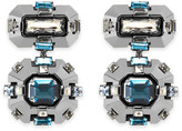 Swarovski Cristaux Deco Drop Clip Earrings, ruthenium plating