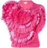 DELPOZO fringe embellished knitted top - women - Cotton - S