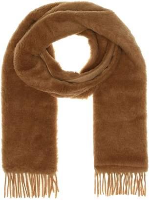 Max Mara Eclisse Teddy camel hair scarf