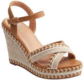Gc Shoes GC Shoes Womens Beverly Wedge Sandals, 9 1/2 Medium, Brown
