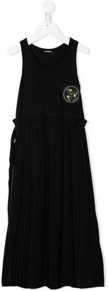 Diesel Sleeveless Ruffled Maxi Dress