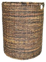 Threshold Wicker Hamper - Dark Global Brown
