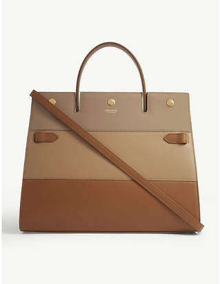 Burberry Title small leather tote bag