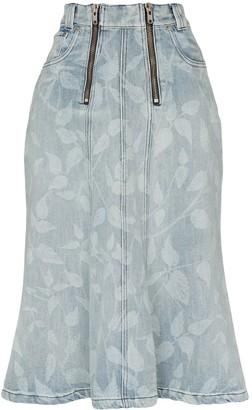 GmbH Nettle Print Midi Skirt