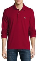 Lacoste Classic Long-Sleeve Piqué Polo Shirt, Bordeaux