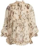 Zimmermann Maples floral-print silk top