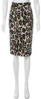 Diane von Furstenberg Intarsia Knit Skirt