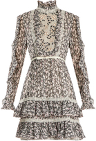 Giambattista Valli Floral-print ruffled silk-georgette dress