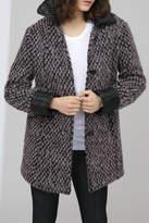 HUTCH Wool Jacquard Coat