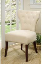 Safavieh Broome Birchwood Cotton-Poly Side Chair in Natural Cream (Set of 2)