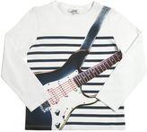 Junior Gaultier Guitar Print Cotton Jersey T-Shirt
