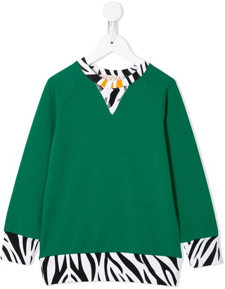 Efvva Printed Trim Sweatshirt